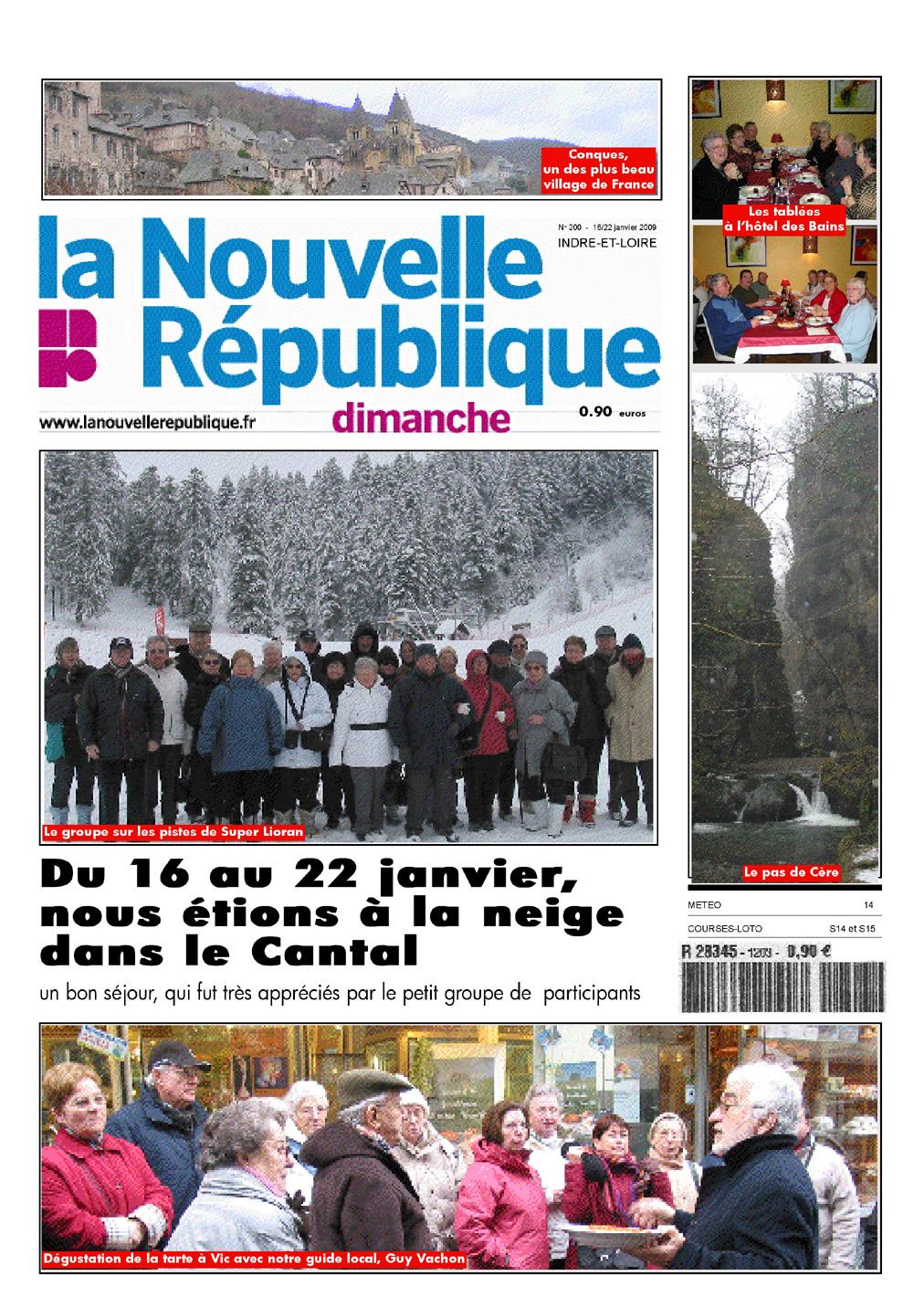L'amicale des retraités de la Nouvelle République dans le Cantal