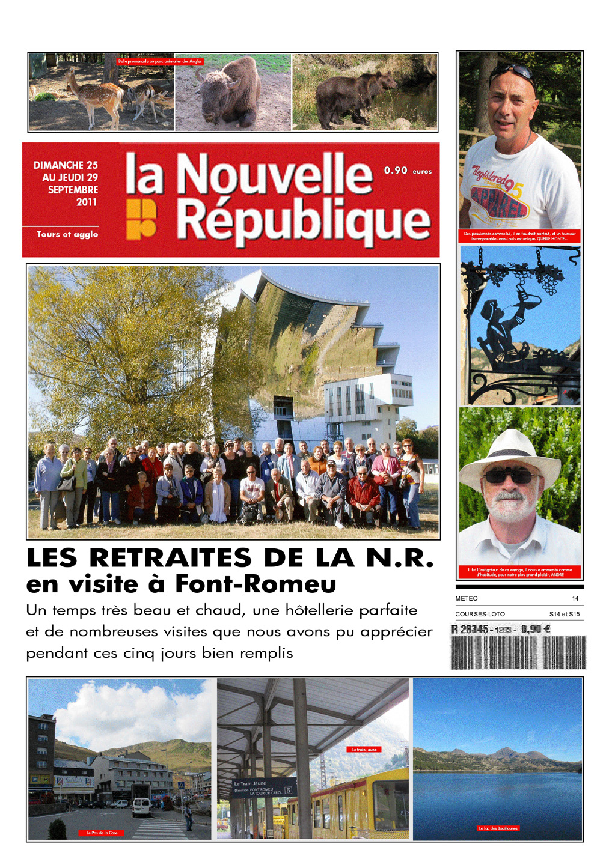 Les amicalistes de la Nouvelle République en voyage à Font-Romeu