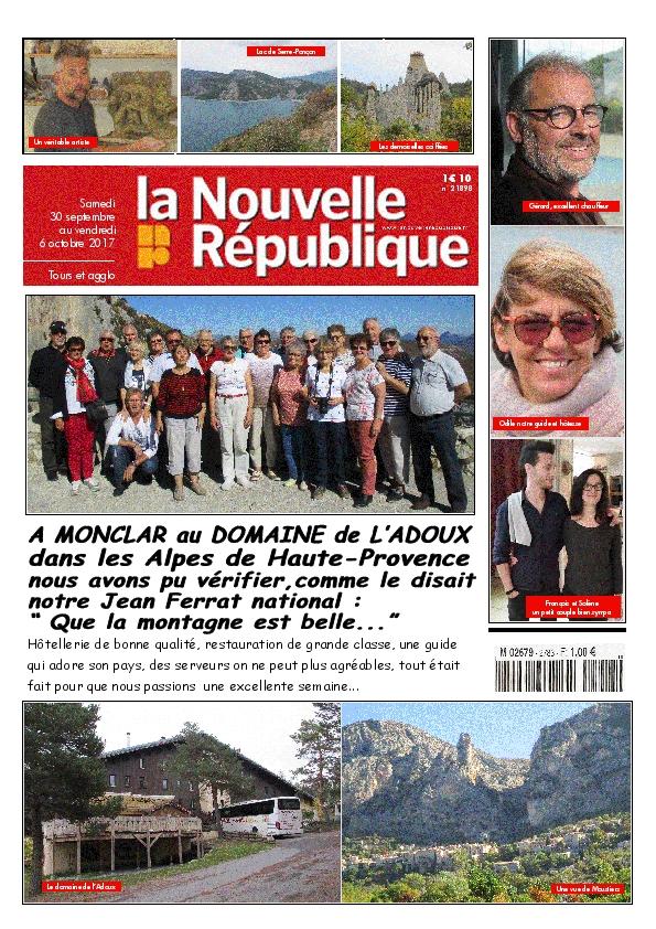 L'amicale des retraités de La Nouvelle République, voyage les Alpes de Haute Provence.