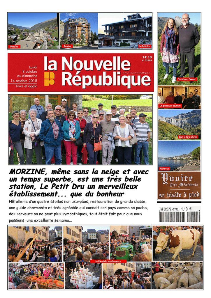 L'amicale des retraités de La Nouvelle République à Morzine photo blog