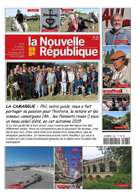 Page une voyage amicale NR en Camargue octobre 2019