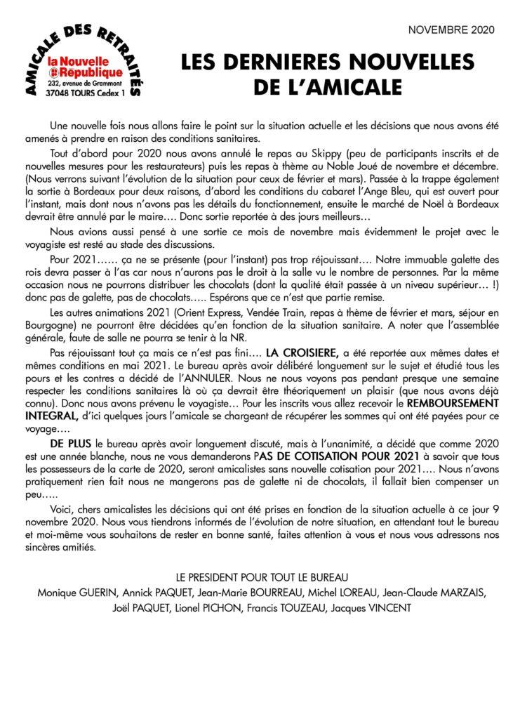COURRIER-AUX-AMICALISTES Novembre 2020